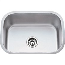 "304 Stainless Steel (18 Gauge) Undermount Utility Sink. Overall Measurements: 23-1/2"" x 17-3/4"" x 9"""