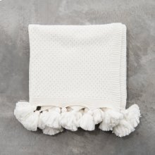 Carlisle Tassel Throw - White