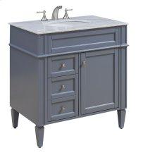 32 in. Single Bathroom Vanity set in Grey