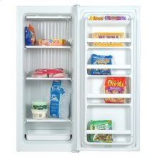 White-on-White 7.4 Cu. Ft. Upright Freezer