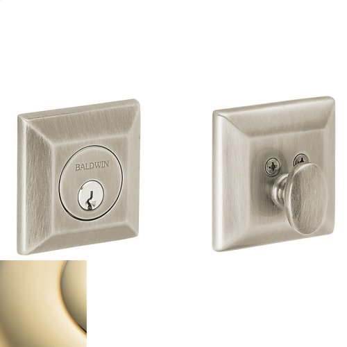 Lifetime Polished Brass Squared Deadbolt