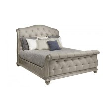 Summer Creek Shoals Upholstered Tufted Sleigh Queen Bed