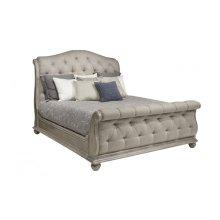Summer Creek Shoals Upholstered Tufted Sleigh Queen Bed