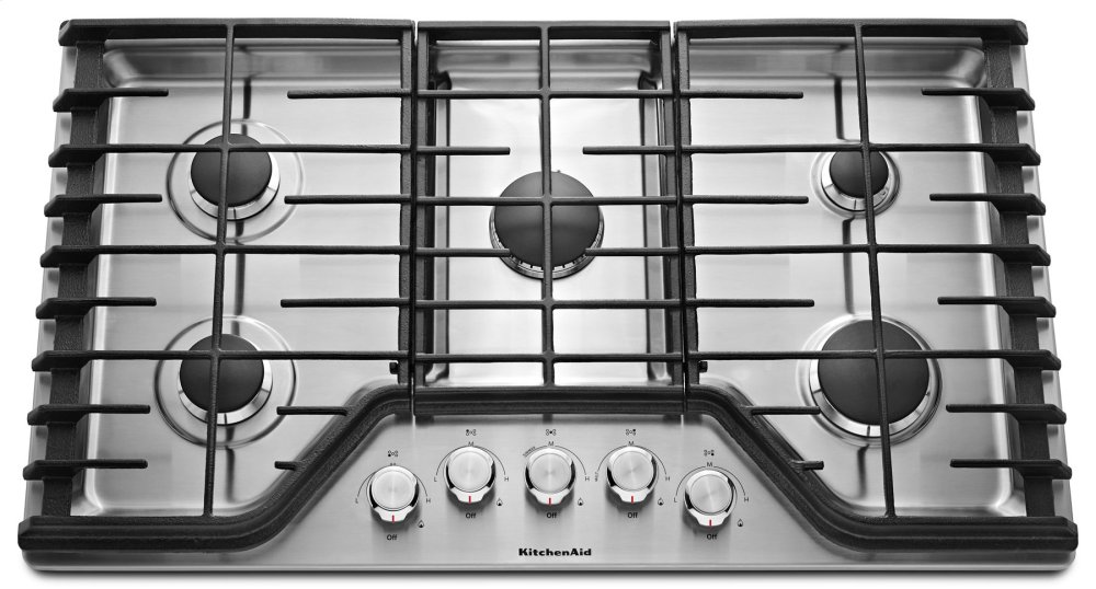 Kitchenaid 36u0027u0027 5 Burner Gas Cooktop   Stainless Steel