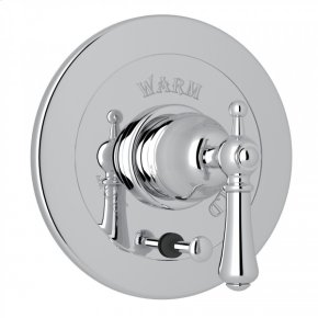 Polished Chrome Perrin & Rowe Georgian Era Integrated Volume Control Pressure Balance Trim With Diverter with Georgian Era Solid Metal Lever