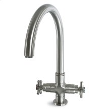 Deco T Bar Faucet with Cross Handles - Polished Chrome