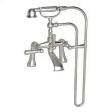 Satin Nickel - PVD Exposed Tub & Hand Shower Set - Deck Mount