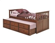 Pine Ridge Chocolate Mission Captain's Bed with Trundle and Storage with options: Chocolate Product Image