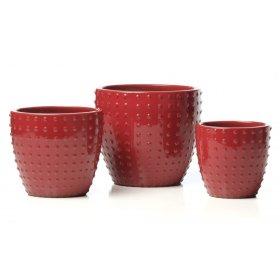 Cherry Bombe Planter - Set of 3