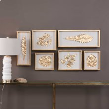 Golden Leaves Shadow Box, S/6