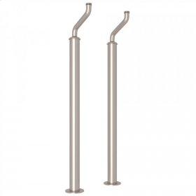 Satin Nickel Perrin & Rowe Pair Of Floor Pillar Legs or Supply Unions