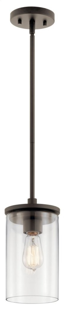 Crosby 1 Light Mini Pendant Olde Bronze®