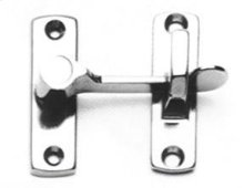 Shutter & Bi-fold Door Latch - Solid Brass in US26 (Polished Chrome Plated)