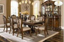 Double Pedestal Dining Table
