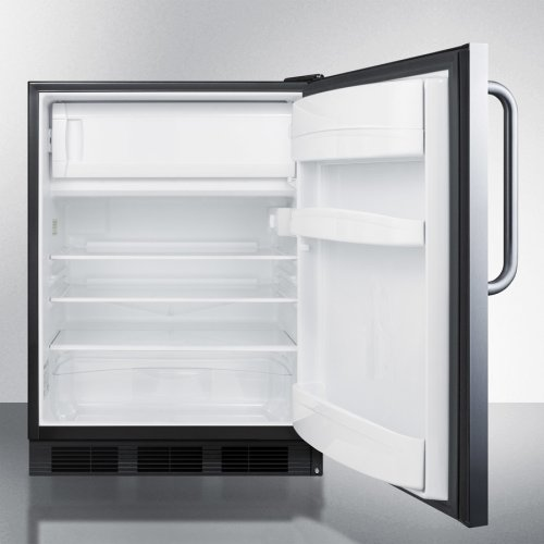 Built-in Refrigerator-freezer With Cycle Defrost In Wrapped Stainless Steel Exterior