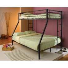 Contemporary Black Twin-over-full Bunk Bed
