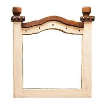 White/Walnut Don Carlos Mirror