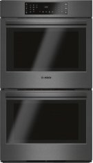 "Bosch 800 Dbl. Oven, 30"", Blk. Ss Product Image"