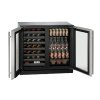"""U-Line Modular 3000 Series 36"""" Beverage Center With Stainless Frame Finish And Double Doors Door Swing (115 Volts / 60 Hz)"""