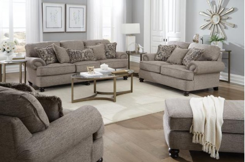 444703 In By Jackson Furniture In Fort Worth Tx Taupe Roll Arm Sofa