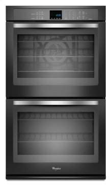 Black Ice Whirlpool Gold® 10 cu. ft. Double Wall Oven with the True Convection Cooking