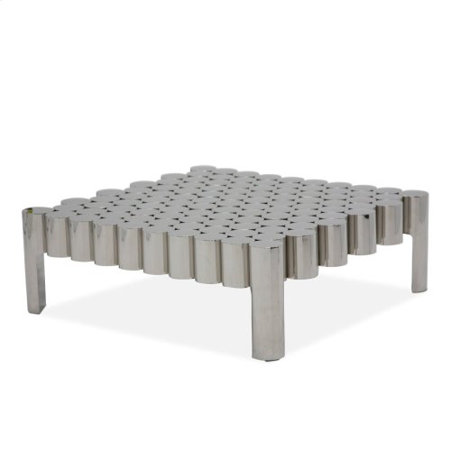 La Tania Rectangular Cocktail Table - Silver