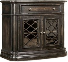 Auberose One-Drawer Two-Door Nightstand