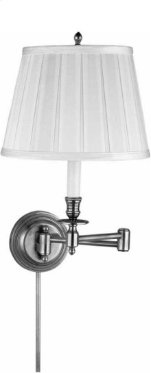 Visual Comfort S2010BZ-NP Studio Candle Stick 19 inch 75 watt Bronze Swing-Arm Wall Light in Natural Paper