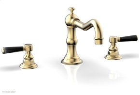 HENRI Deck Tub Set - Marble Lever Handles - 161-42 - Satin Brass