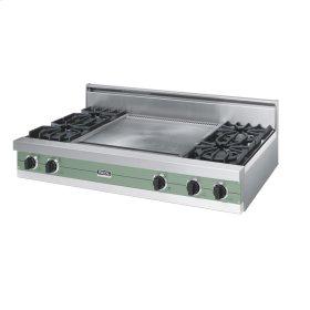"""Mint Julep 48"""" Open Burner Rangetop - VGRT (48"""" wide, four burners 24"""" wide griddle/simmer plate)"""