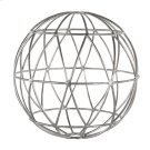 Silver Leaf Geometric 12 Inch Sphere. Product Image