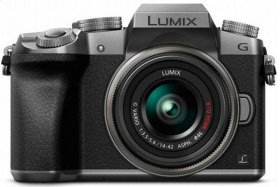 LUMIX G7 4K Mirrorless Interchangeable Lens Camera Kit with 14-42 mm Lens - Silver