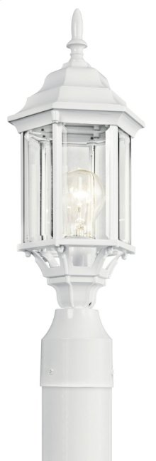Chesapeake 1 Light Post Light White