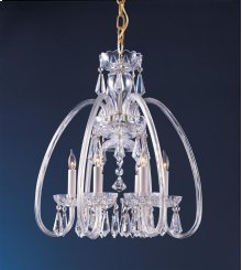 Traditional Crystal6 Light Clear Crystal Brass Mini Chandelier