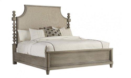Morrissey Eastern King Healey Upholstered Panel Bed Smoke