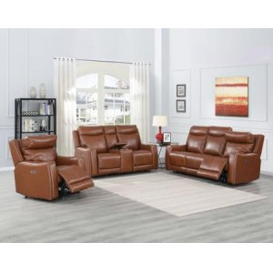 Steve Silver Co.Natalia Coach 3-Piece Dual-Power Leather Motion Set (Sofa, Loveseat & Chair)