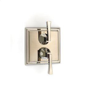Polished Nickel Hudson (Series 14) Dual Control Thermostatic with Diverter and Volume Control Valve Trim