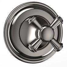 Vivian Three-way Diverter Trim- Cross Handle - Polished Nickel