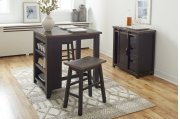 Madison County 3pc Counter Height Set - Vintage Black Product Image