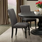 Corinne - Upholstered Side Chair - Ebonized Acacia Finish Product Image