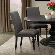 Corinne - Upholstered Side Chair - Ebonized Acacia Finish