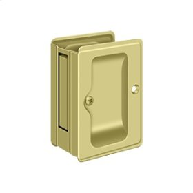 "HD Pocket Lock, Adjustable, 3 1/4""x 2 1/4"" Passage - Polished Brass"
