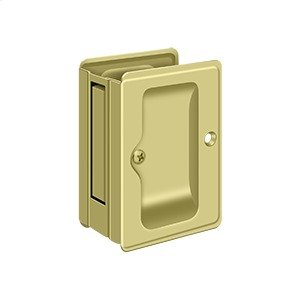 "HD Pocket Lock, Adjustable, 3 1/4""x 2 1/4"" Passage - Polished Brass"