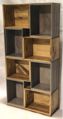 """#625 Crate Bookcase 26.5""""wx10.5""""dx53.75""""h"""