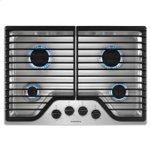30-inch Gas Cooktop with 4 Burners - stainless steel