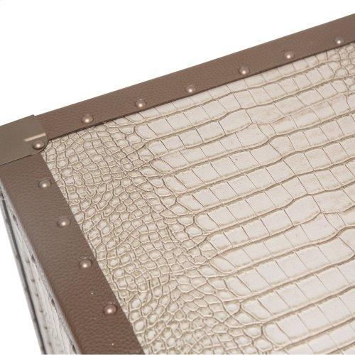 Upholstered Nightstand Amazon Tan Gator
