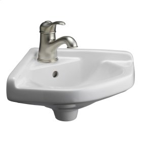 Corner Wall-Hung Basin - Bisque