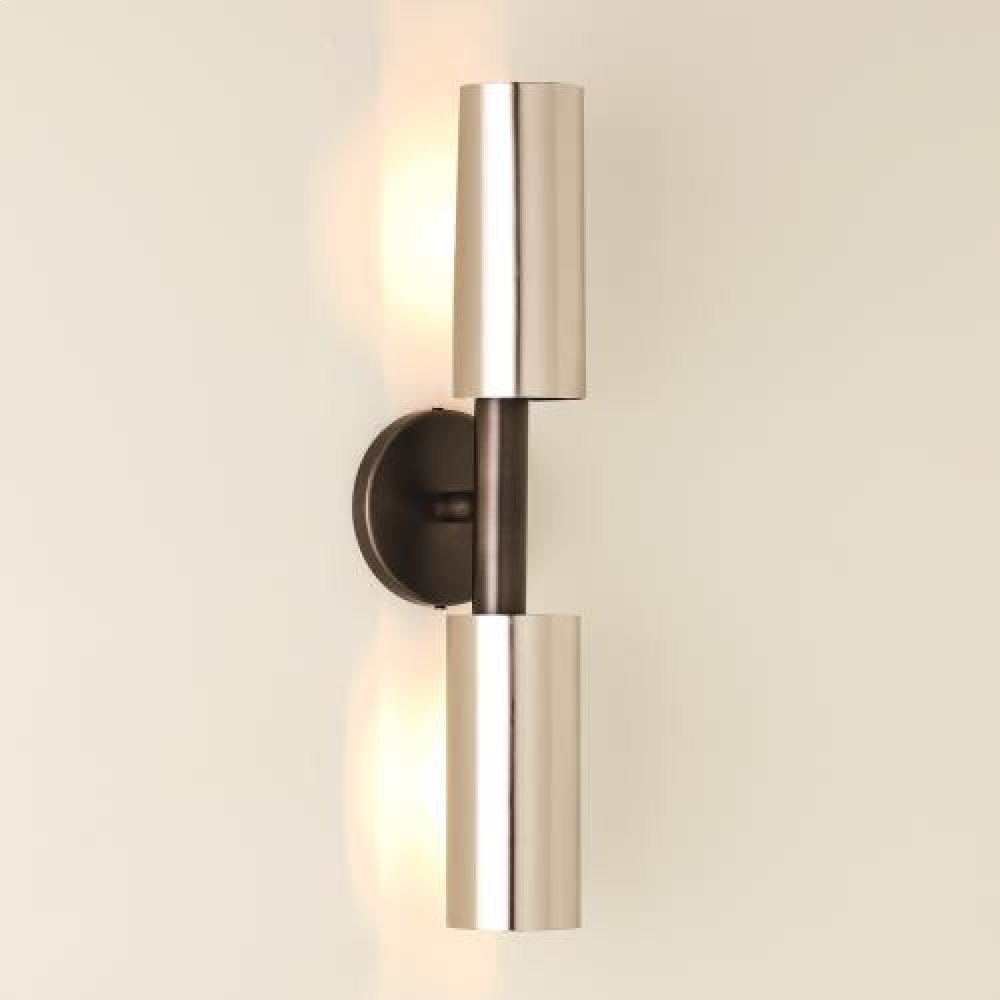 Dumbbell Sconce-Zinc/Nickel-HW