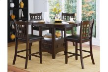 Round / Oval Counter Height Table with Storage Base