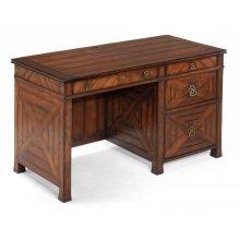 Parquet kneehole desk